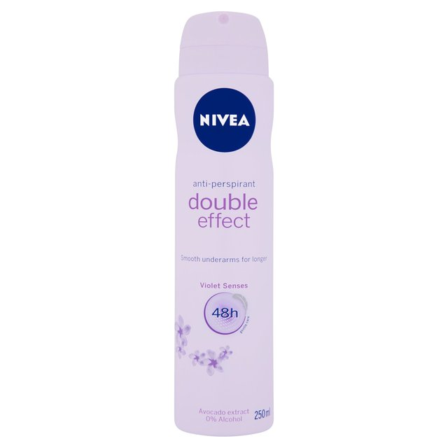 NIVEA Anti-Perspirant Deodorant Spray, Double Effect, 48 Hrs