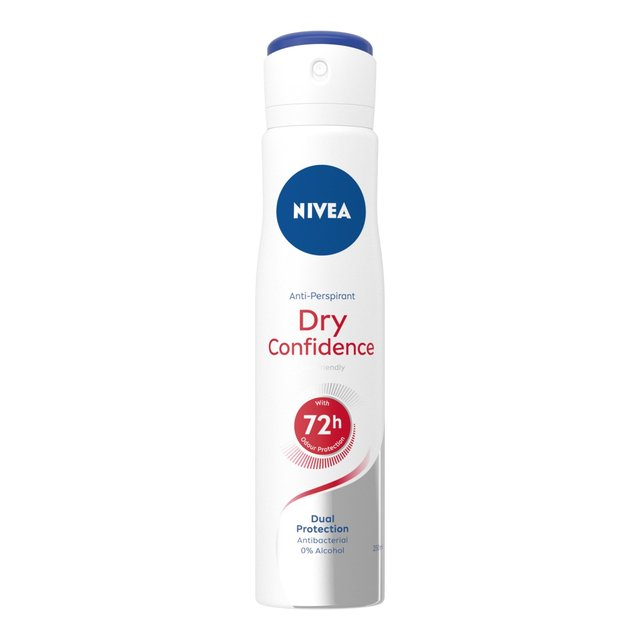 NIVEA Anti-Perspirant Deodorant Spray, Dry Confidence, 48 Hrs
