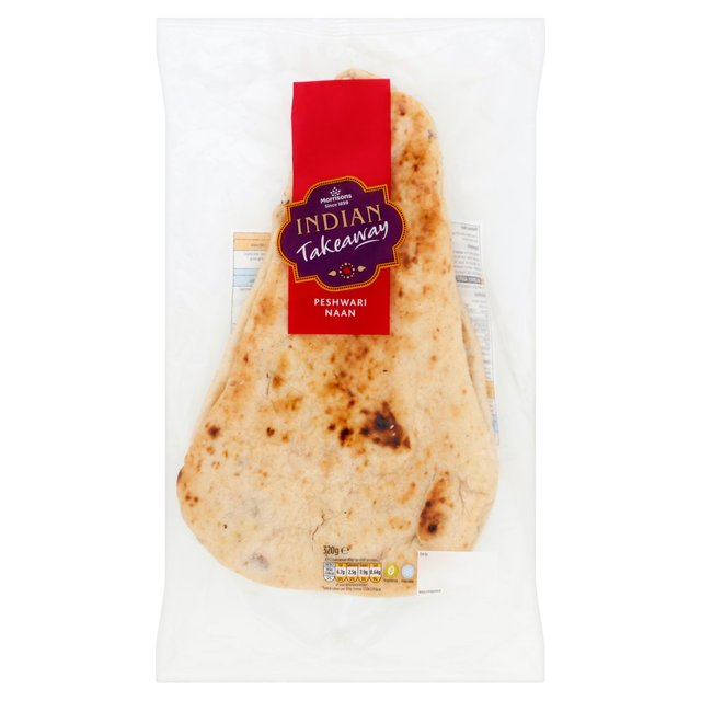 Morrisons Indian Takeaway 2 Peshwari Naan Bread