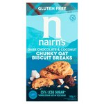 Nairn's Gluten Free Biscuit Breaks Chunky Oats, Dark Chocolate & Coconut