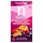 Nairn's Gluten Free Biscuit Breaks Chunky Oats, Blueberry & Raspberry