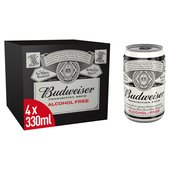 Budweiser Prohibition Brew Non-Alcoholic Beer Cans
