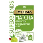 Twinings Superblends Matcha 20 Single Tea Bags