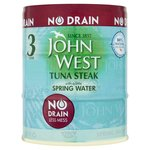 John West Tuna Steak With A Little Spring Water No Drain