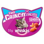 Whiskas Trio Crunchy Treats Seafood Flavours