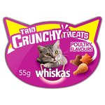 Whiskas Trio Crunchy Treats Poultry Flavours