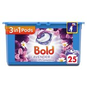 Bold 3in1 Pods Lavender & Camomile Washing Capsules 25 Washes