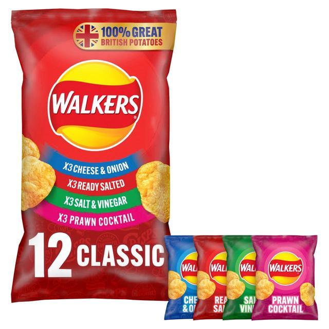 MORRISONS > Food Cupboard > Walkers Classic Variety Multipack Crisps
