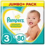 Pampers New Baby Size 3 Midi 80 Nappies