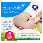 Brush-Baby Dental Wipes 0-16 Months 28 Wipes
