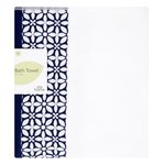 Morrisons Indigo Floral Header Bath Towel