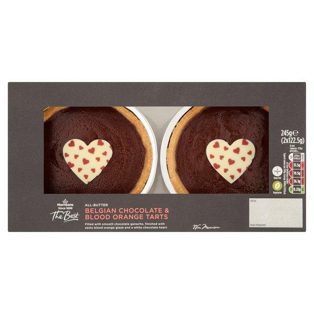 Morrisons: Morrisons Best 2 Belgian Chocolate Orange Tarts (Product