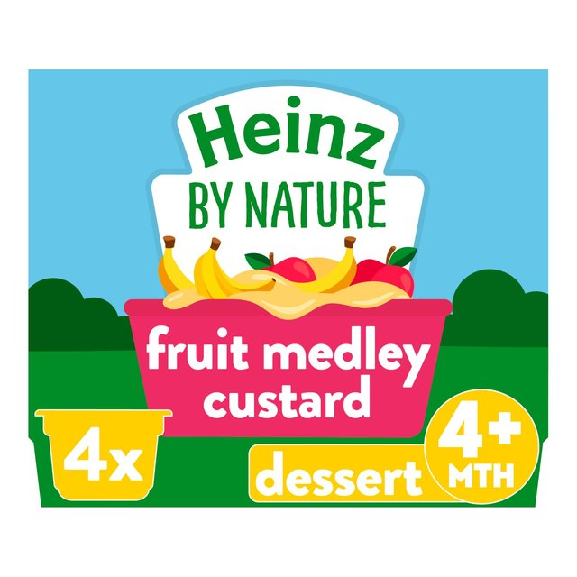Heinz Fruit Medley Custard 4-36 Months