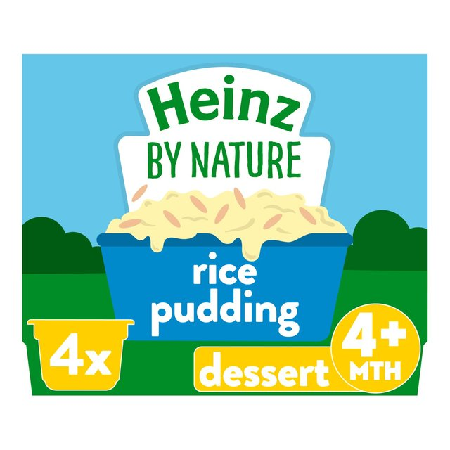 Morrisons Heinz Creamy Rice Pudding 4 36 Months 4 X 100g