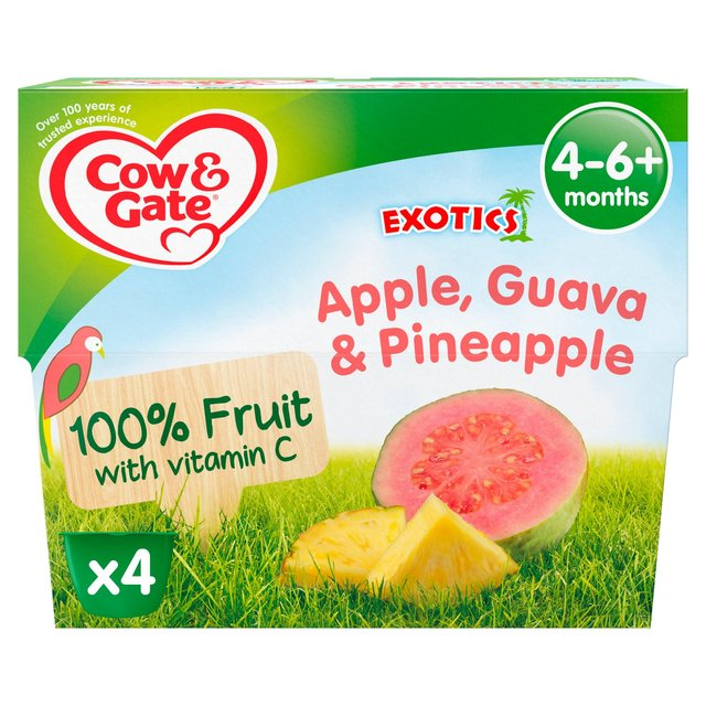 Cow & Gate Exotics Apple Guava & Pineapple Fruit Puree Pots