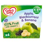 Cow & Gate Apple, Blackcurrant & Banana From 4-6+ Months