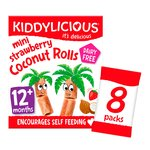 Kiddylicious Strawberry Mini Coconut Rolls