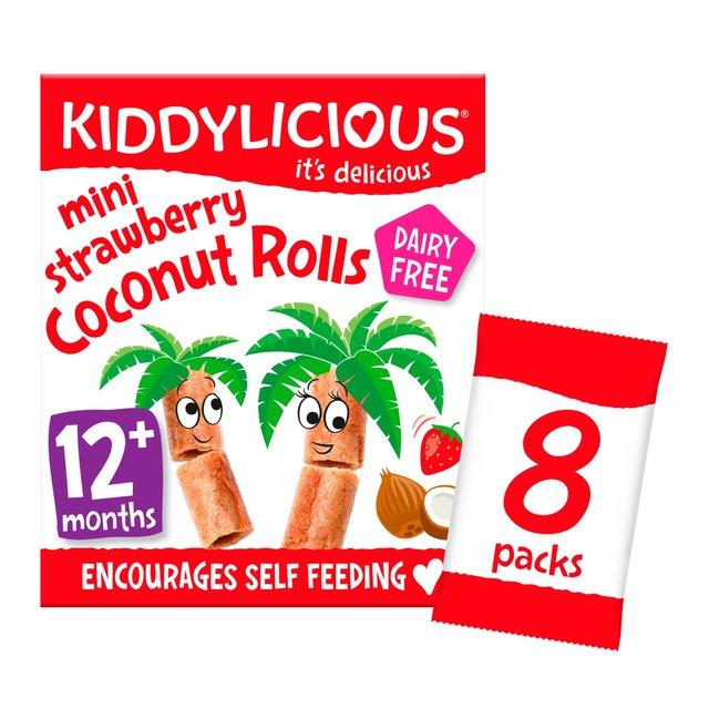 Kiddylicious Strawberry Mini Coconut Rolls