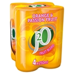 J2O Orange & Passion Fruit Cans