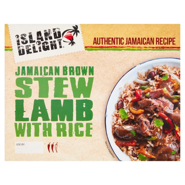 Island Delight Jamaican Brown Stew Lamb With Rice
