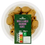 Morrisons Basil & Garlic Halkidiki Olives