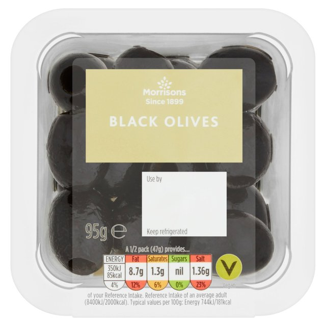 Morrisons Pitted Black Olives