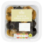 Morrisons Black & Green Olives With Herbs