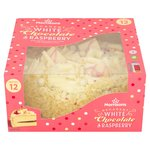 Morrisons White Chocolate & Raspberry Cake 800G
