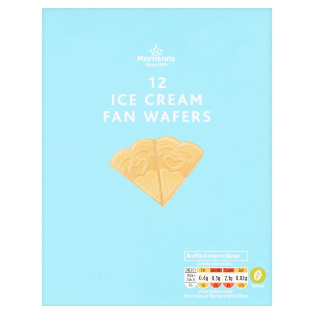 Morrisons Fan Wafers 12Pk