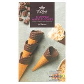 Morrisons The Best Dipped Waffles Cones 6Pk