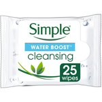 Simple Water Boost Cleansing Wipes 25 Wipes