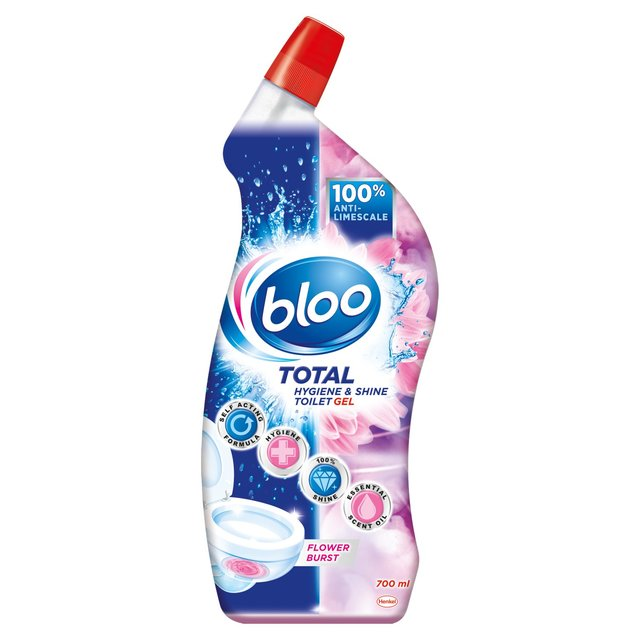 Bloo Total Hygiene & Shine Toilet Gel Flower Burst