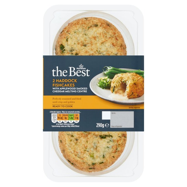 Morrisons The Best Naked Smoked Haddock & Applewood Cheddar Fishcakes