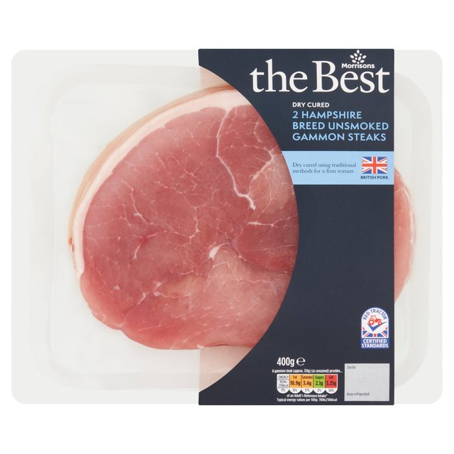 Morrisons The Best British Dry Cured Unsmoked Gammon Steaks