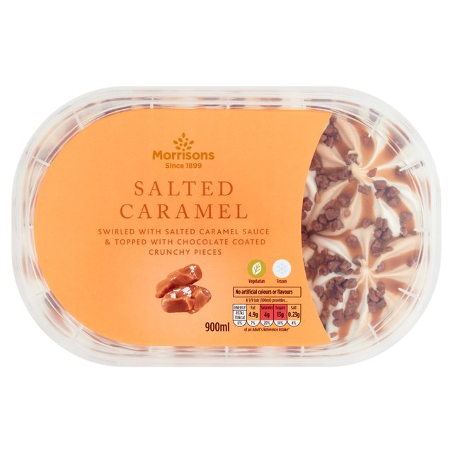 Morrisons Salted Caramel Ice Cream
