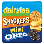 Dairylea Lunchables Snackers Cheese & Crackers with Mini Oreo
