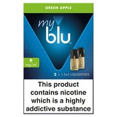 My Blu Refill Pods Green Apple 0.8% 2 X Refills