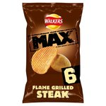 Walkers Max Flame Grilled Steak Crisps