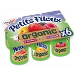 Petits Filous Organic Strawberry, Apricot and Red Fruits Fromage Frais