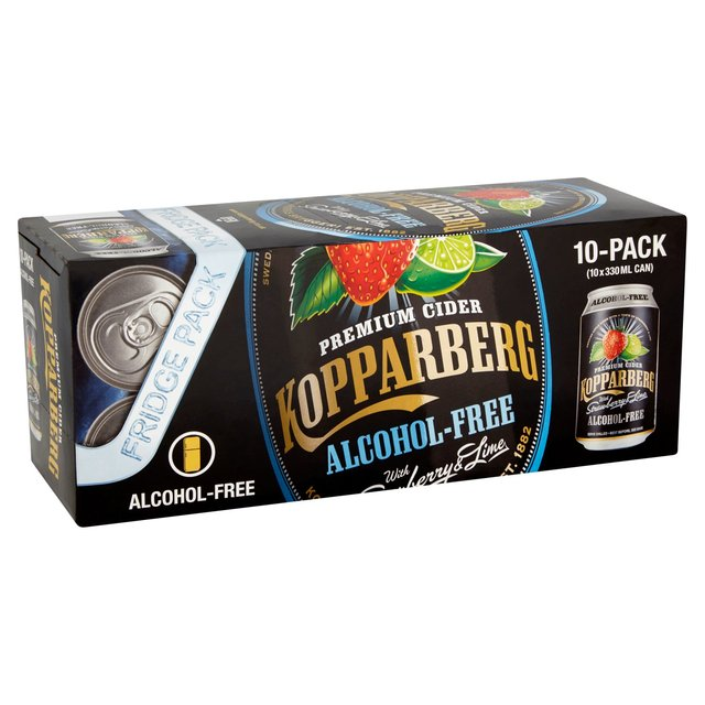 Kopparberg Alcohol-Free With Strawberry & Lime Fridge Pack (Abv 0%)