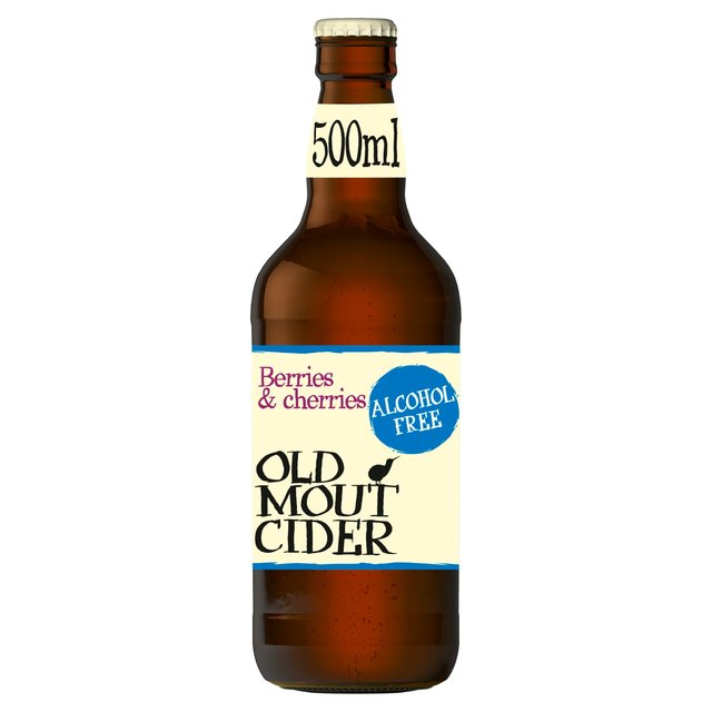 Old Mout Alcohol Free Cider Berries & Cherries Bottle