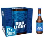 Bud Light Lager Beer bottles