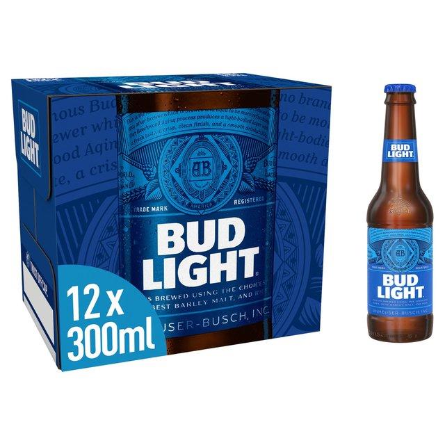 morrisons bud light abv 3 5 12 x 300ml product information