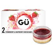 Gu 2 Strawberry & Raspberry Cheesecakes