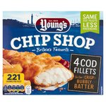 Young's Chip Shop 4 Cod Fillets
