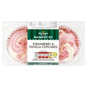 Morrisons Market St Strawberry & Vanilla Cupcakes 2Pk