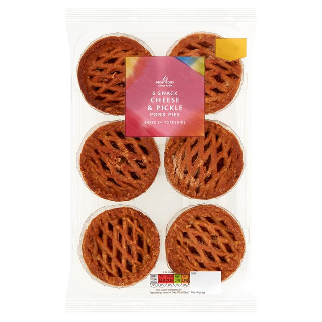Morrisons 6 Snack Cheese & Pickle Pork Pies