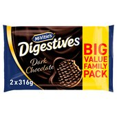 McVitie's Digestives Dark Chocolate Twin Pack