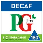 PG tips Decaffeinated 180 Tea Bags