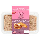 Squig Square Cumberland British Pork Sausages